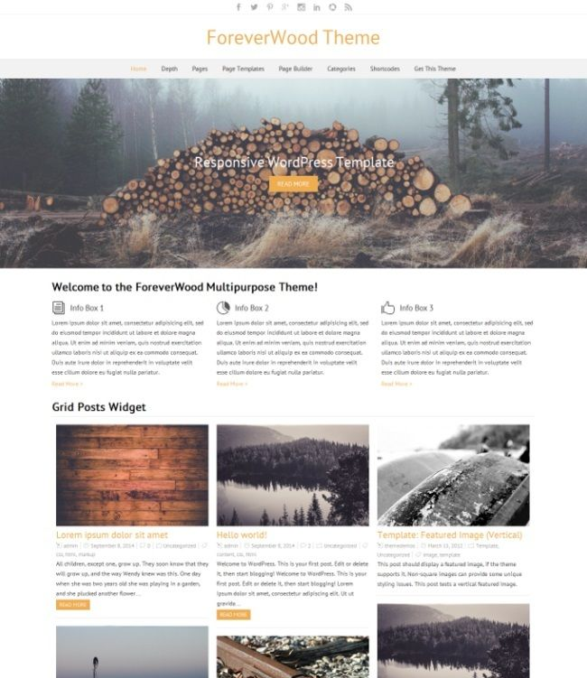ForeverWood Free WordPress Theme