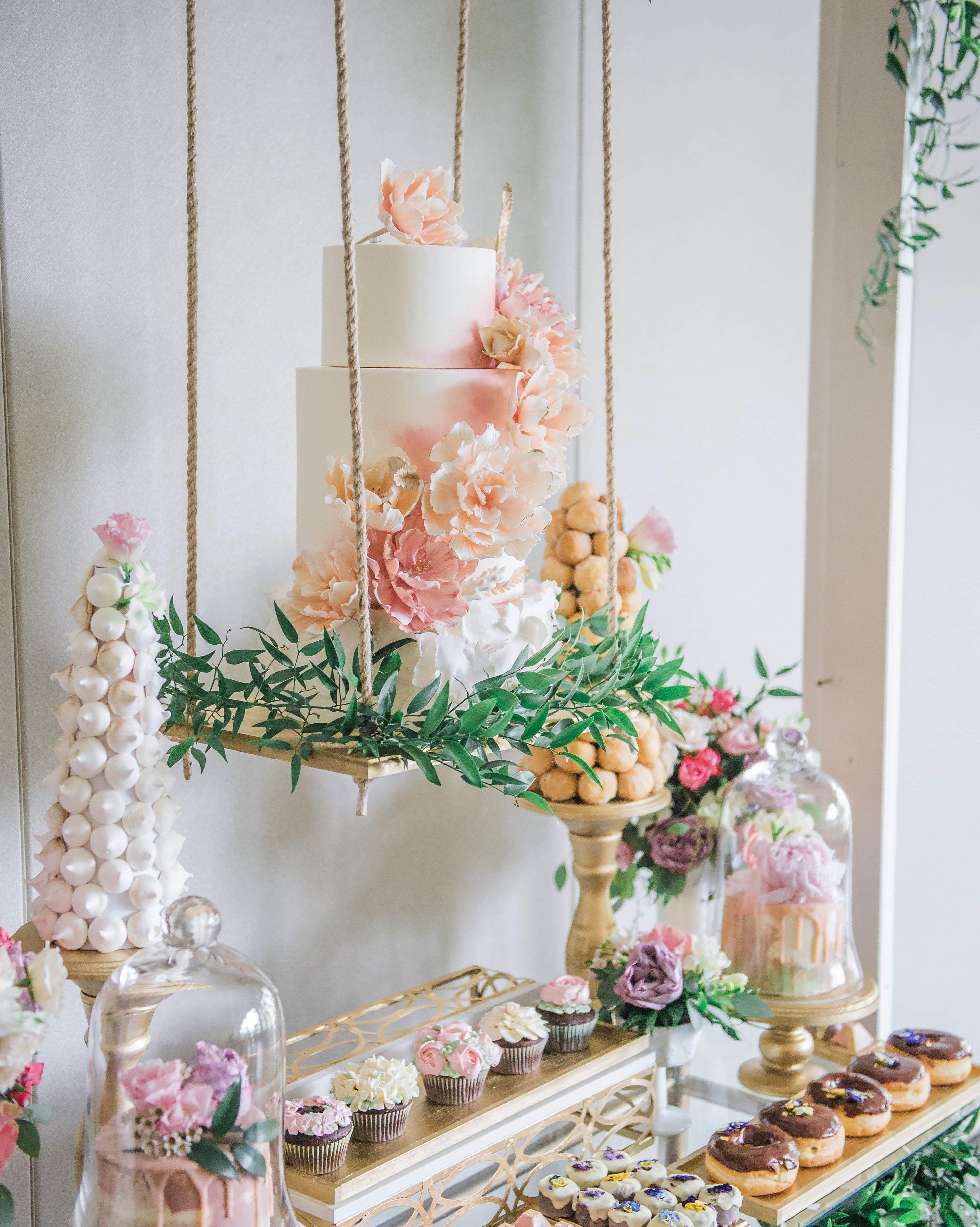 Trending Now Floating Wedding Cake Tables Wedding Desserts