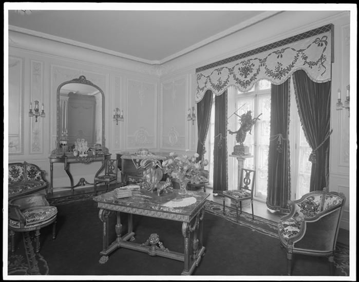 40 West 74th Street. E. [Edmond] Haas residence, drawing room at windows.