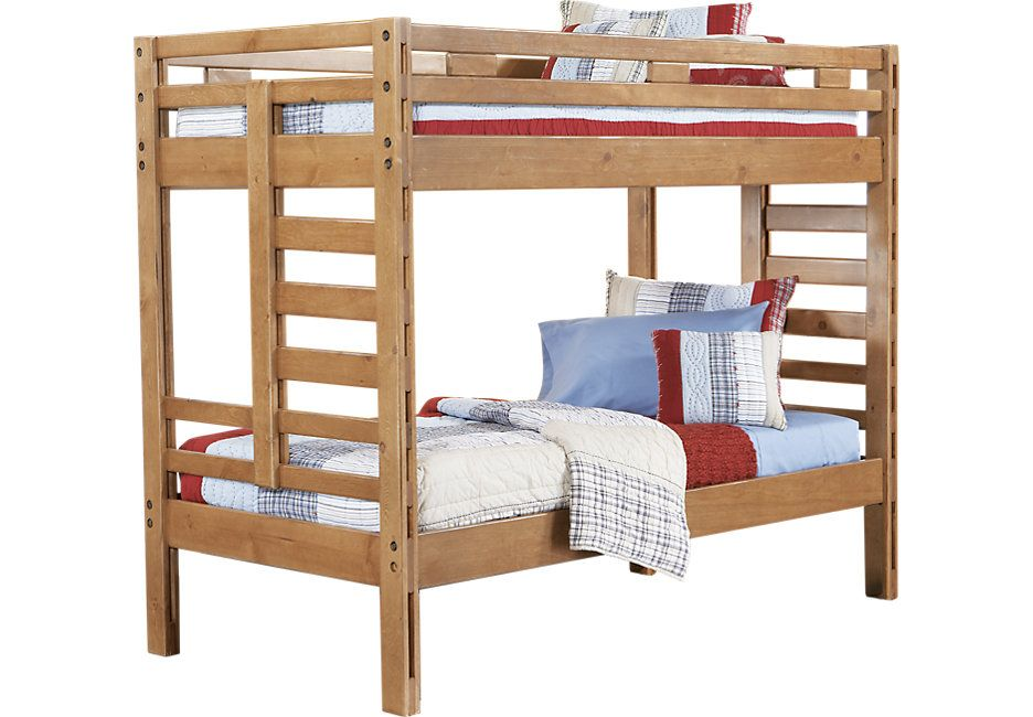 Picture Of Creekside Taffy Twin Twin Bunk Bed From Furniture 399 149 For Top Mattress Kids Bunk Beds Bunk Beds Bunk Beds With Stairs