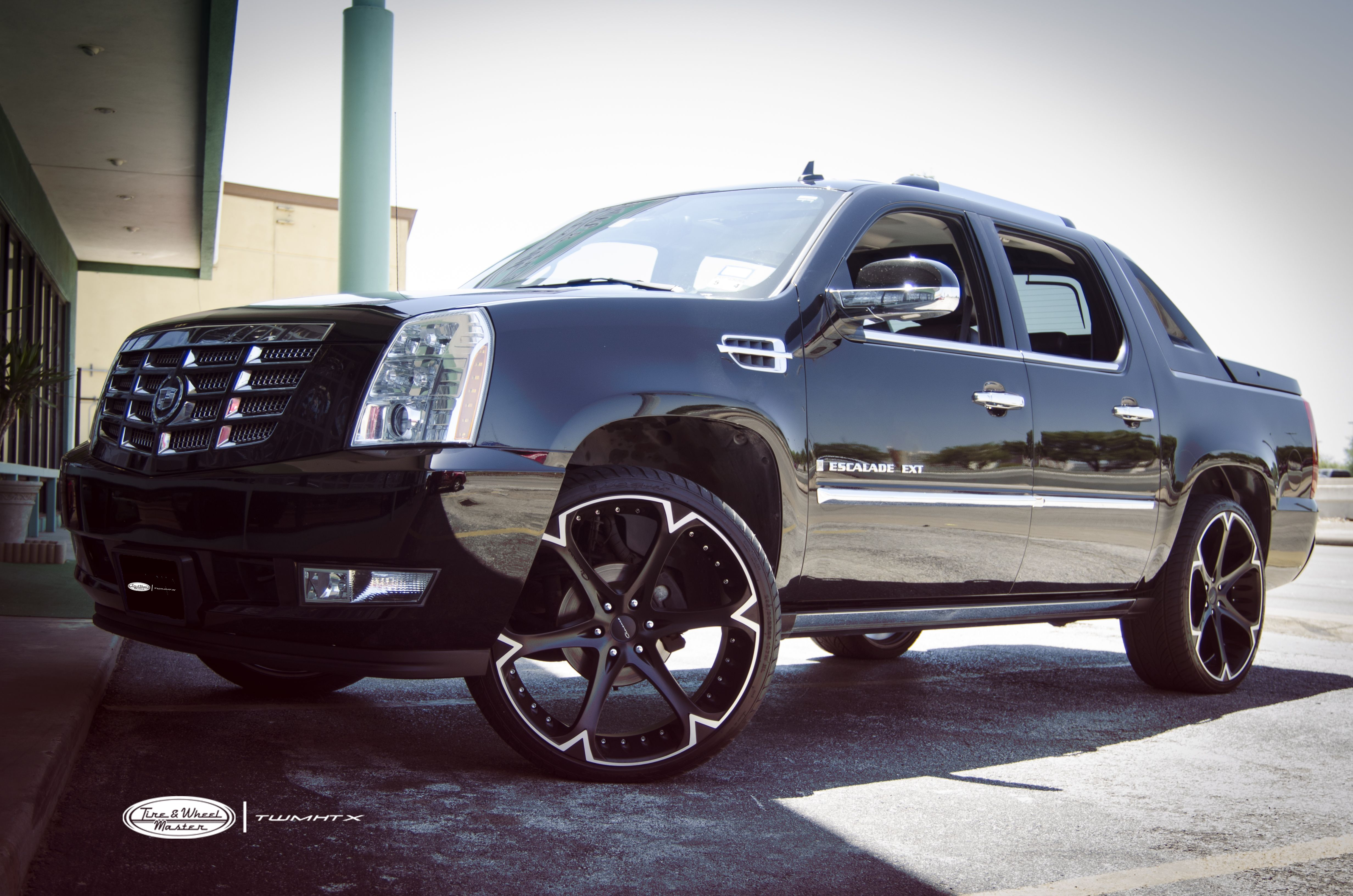 Black Cadillac Escalade EXT with 26 inch Giovanna Wheels ...