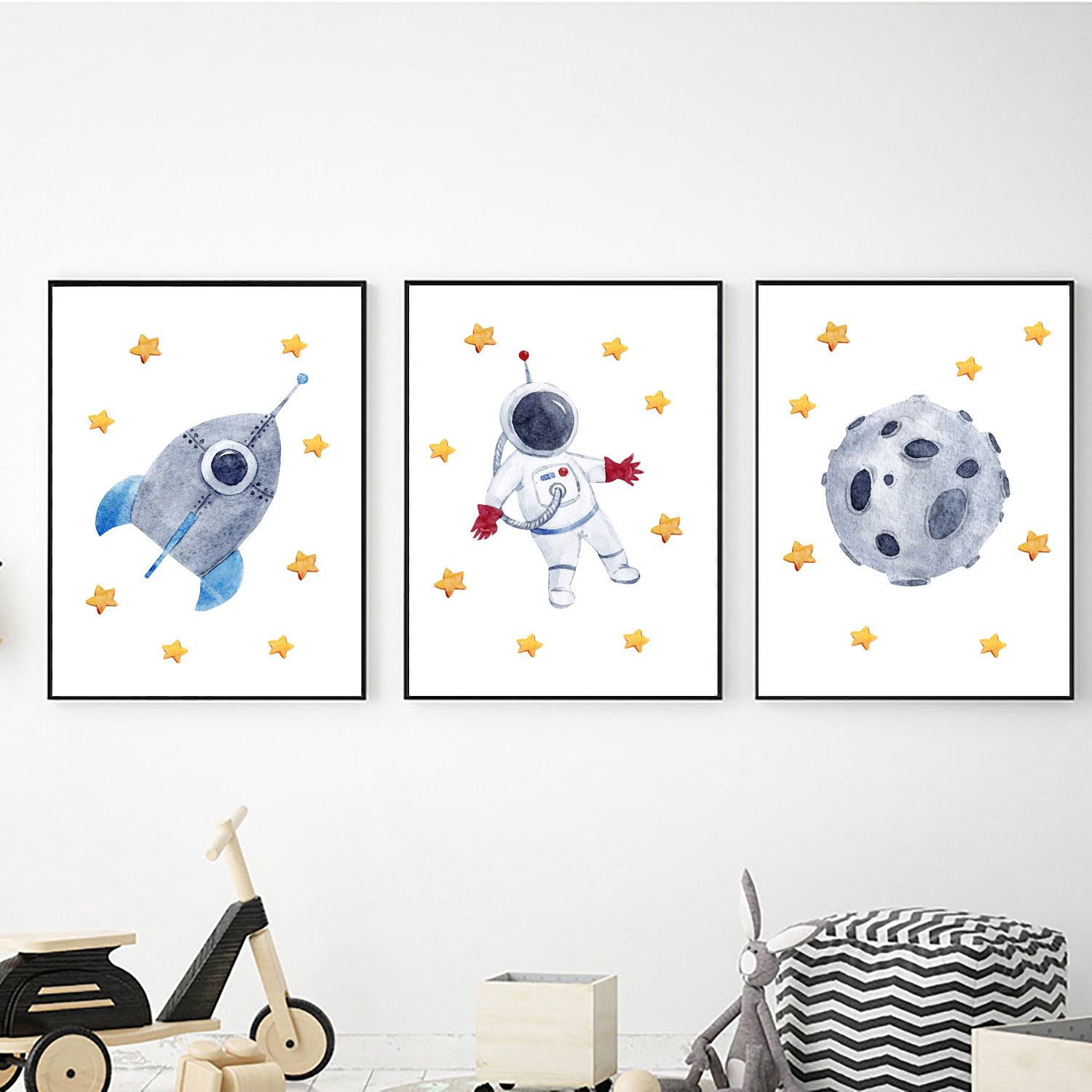Outer Space Set Of 3 Prints Digital Download Outer Space Prints