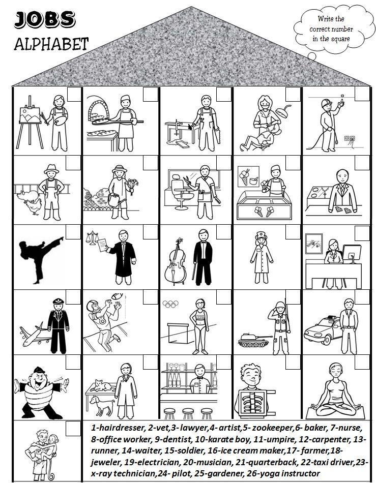 Enjoy Teaching English: JOBS/PROFESSIONS (worksheet