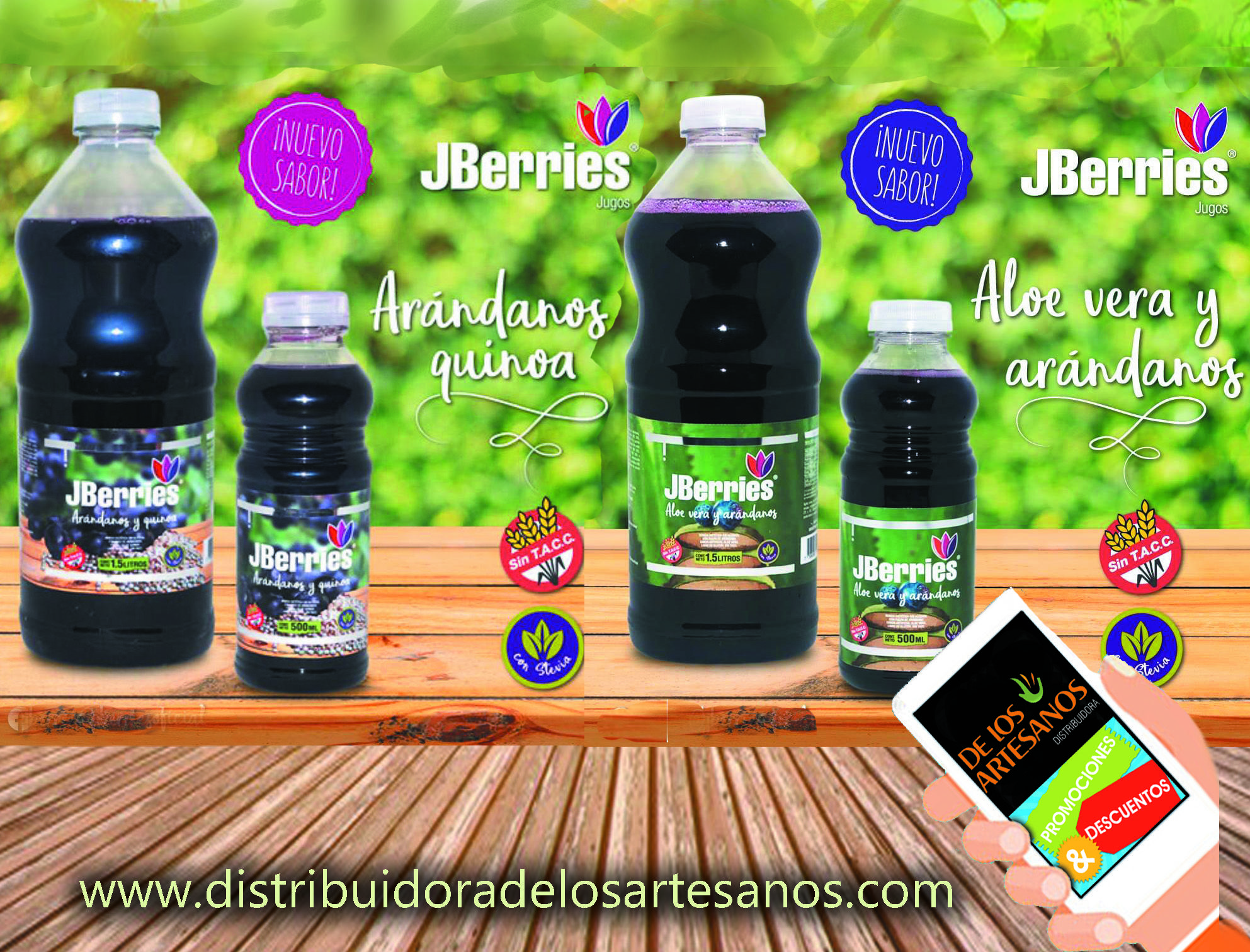 Ugo De Arandanos Jberries Light Sin Alcohol Jugos Nuevos Sabores