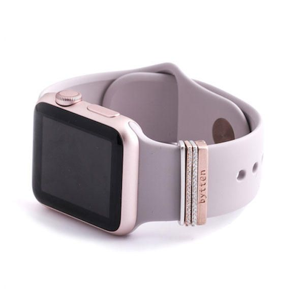 Rose Gold 38mm Glam Stack Accessory For Apple Watch On Ahalife Apple Watch Fashion Rose Gold Apple Watch Apple Watch Accessories