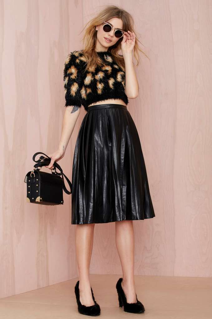 Nasty Gal Anarchy Party Vegan Leather Skirt - Skirts |