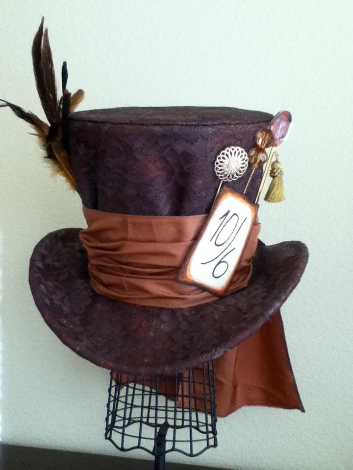 Brown Mad Hatter Hat Google Search Mad Hatter Hat Mad Hatter Top Hat Mad Hatter