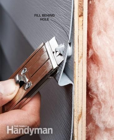 Siding Repair Holes In Aluminum And Vinyl Siding Repair Vinyl Siding Repair Home Repair