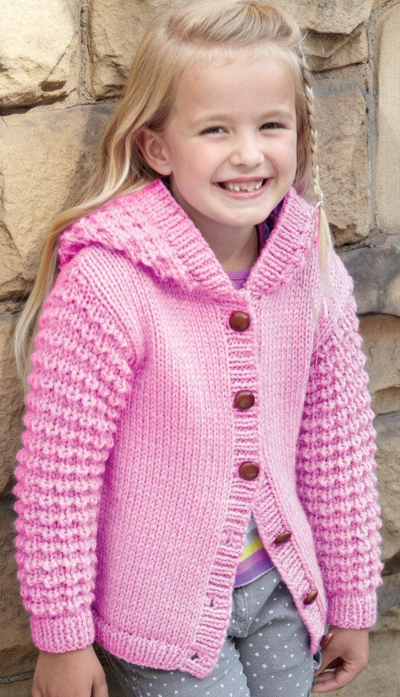 Sweater and Jacket in Hayfield Chunky with Wool - 2414 | Yarn needle ...