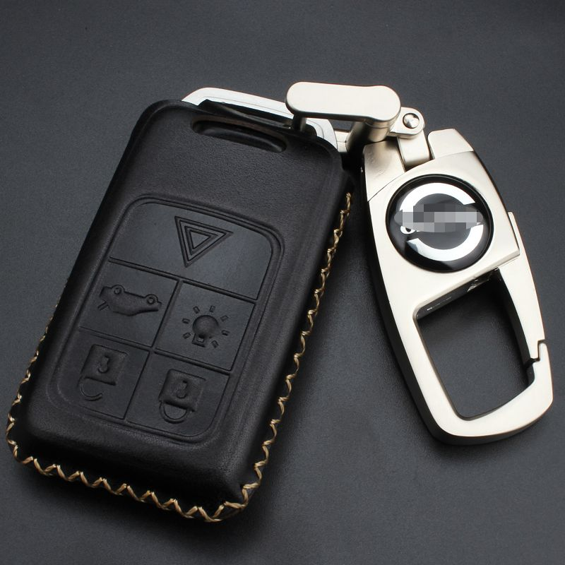 2017 cow leather car key cover case keychain for volvo c30 c70 s402017 cow leather car key cover case keychain for volvo c30 c70 s40 s60 s70 s80