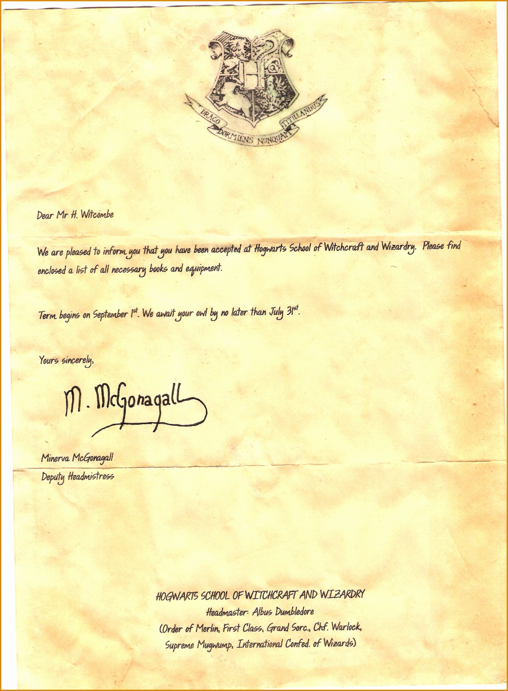 Hogwarts Acceptance Letter Template Pdf Contesting Wiki Within Harry Potter Ac In 2020 Hogwarts Acceptance Letter Template Harry Potter Letter Hogwarts Letter Template