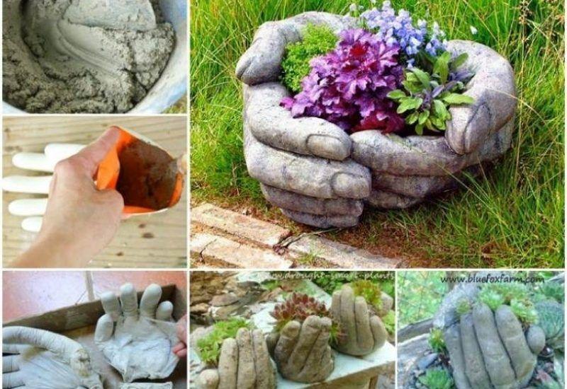 Steingarten, Zement, Gartendeko Selbstgemacht, Gartendeko Aus Beton, Gartendeko  Selber Machen, Garten