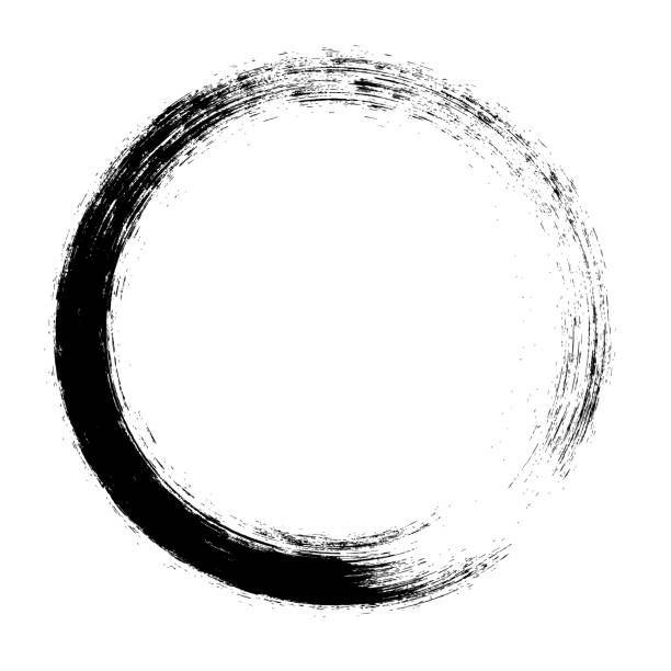 Enso Circular Brush Stroke Japanese Zen Circle Calligraphy N 3 Vector Art Illustration Circle Tattoos Shiva Tattoo Design Vector Art Illustration