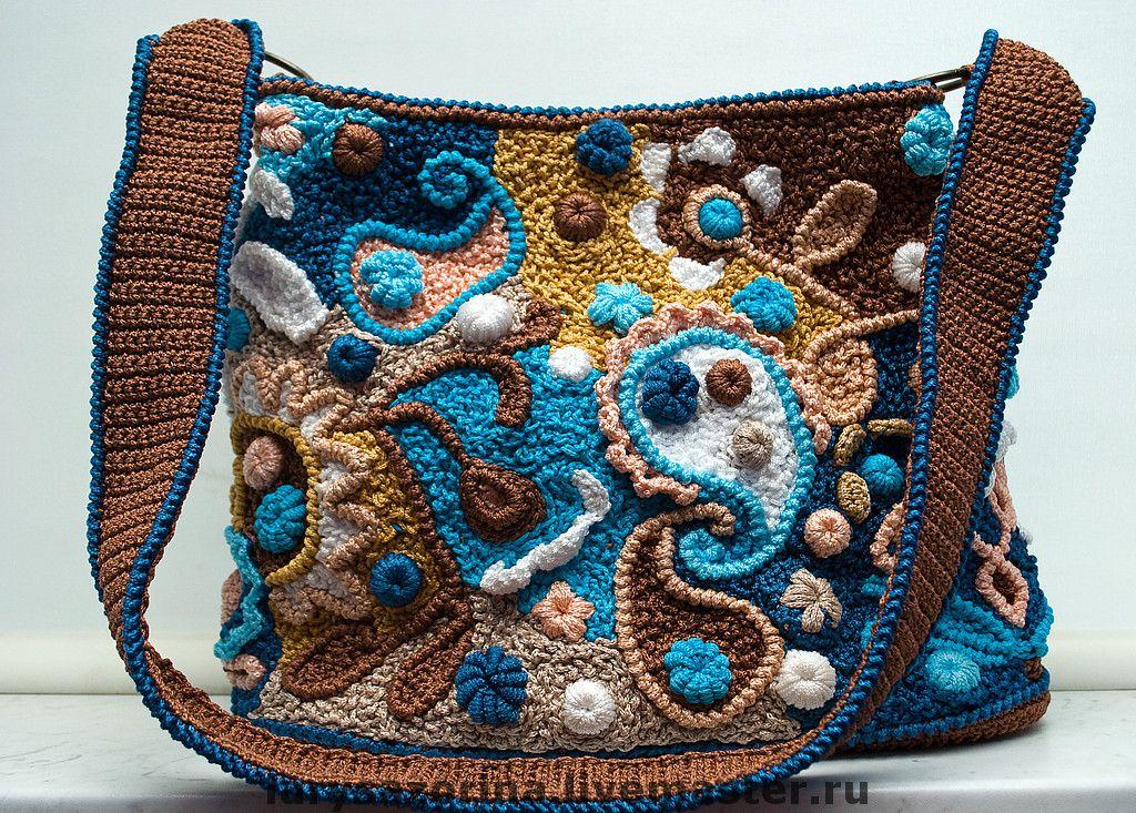 freeform häkeltasche / crochet purse | crochet | Pinterest | Bolsos ...