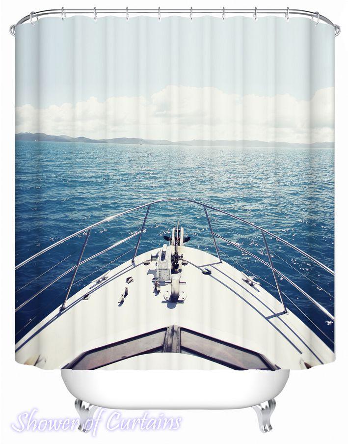 Sail Your Yacht Toward The Horizon Shower Curtain - HXTC0125