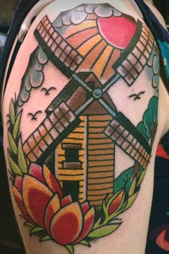 tatuagem moinho de vento no pinterest tatuagens ocidentais tatuagem de raios solares e. Black Bedroom Furniture Sets. Home Design Ideas