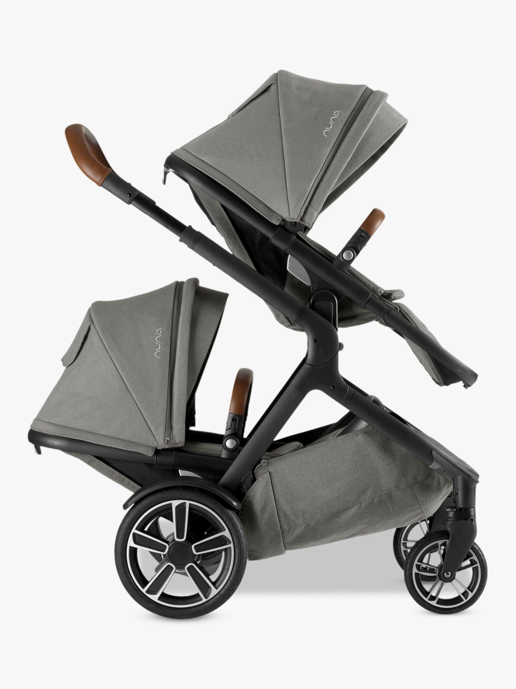 Nuna demi grow sibling seat oxford grey car seat