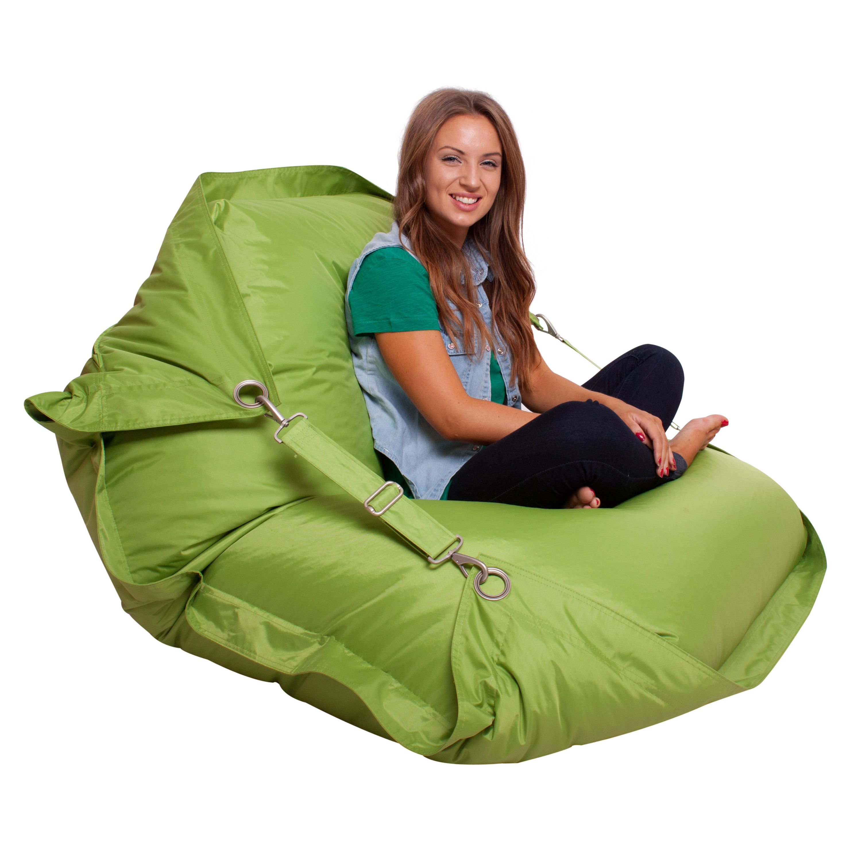 Strange Bazaar Bag Flex Giant Bean Bag In Lime For A Ocoug Best Dining Table And Chair Ideas Images Ocougorg