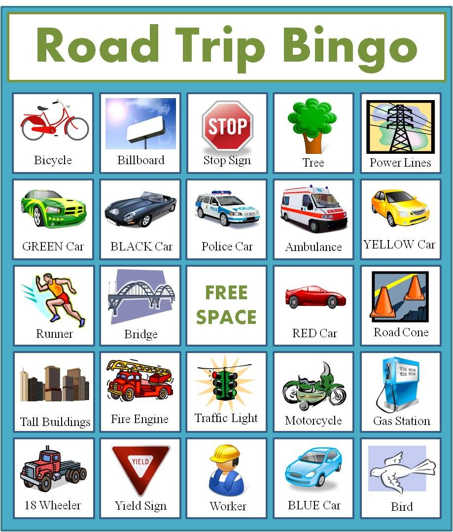 It is an image of Fabulous Car Bingo Cards