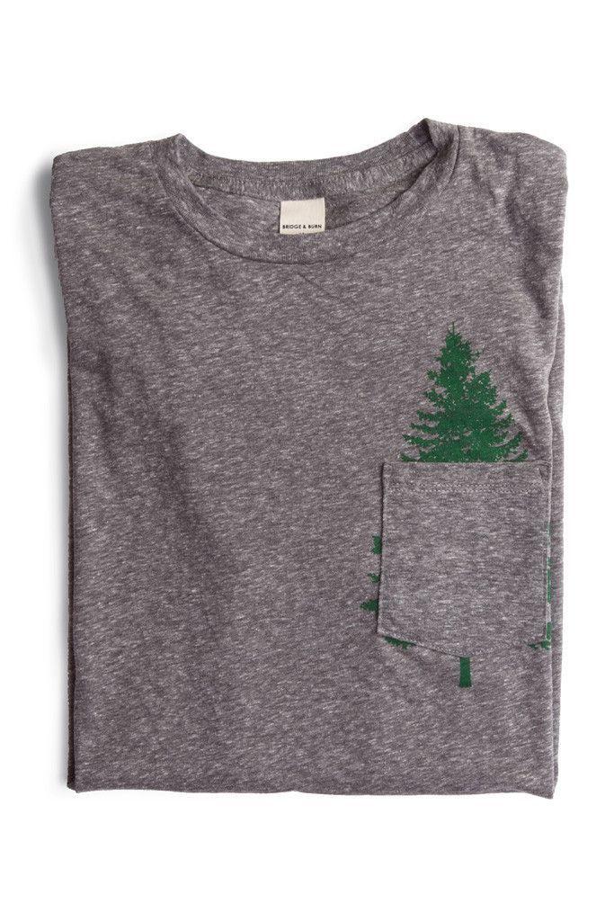 Evergreen Pocket Tee T-Shirt Custom Trends