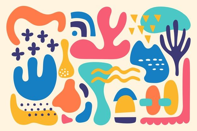Colorful Organic Shapes Background