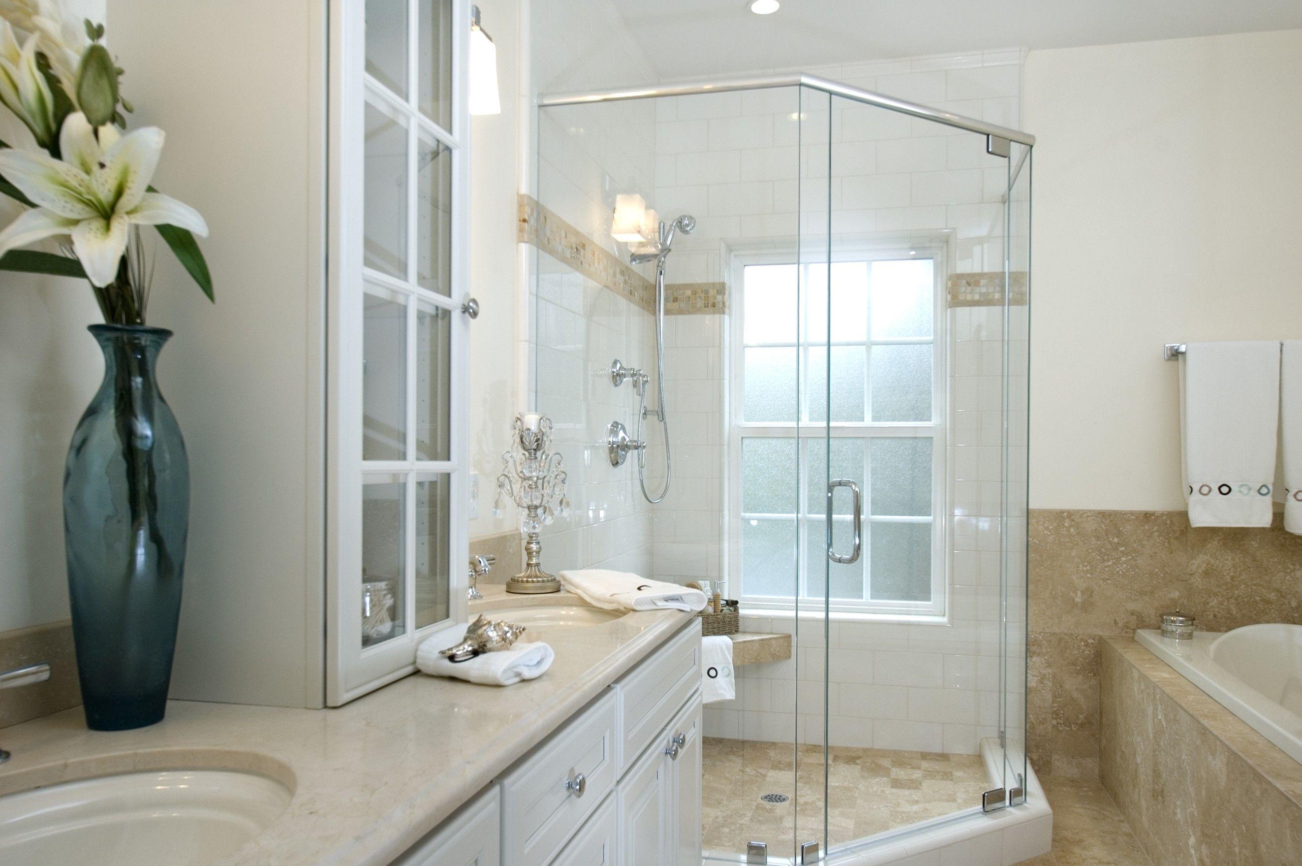 Appealing White Granite Tops Vanities Bathroom With Single ...