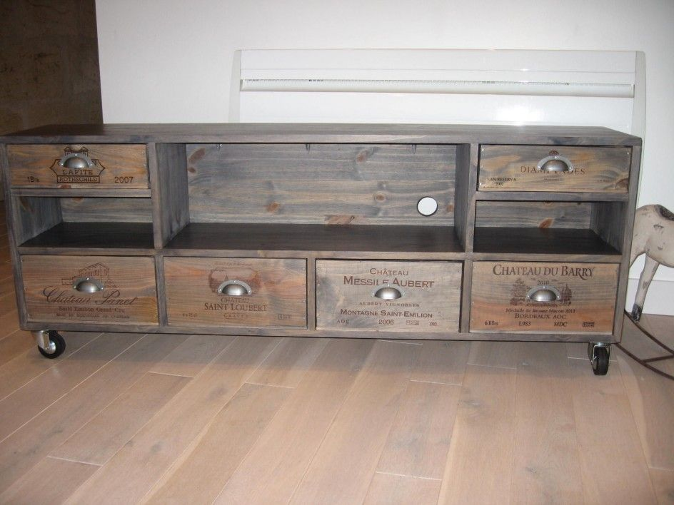 Caisse bois deco tendance 2 meuble tv pinterest wine for Deco meuble furniture richibucto