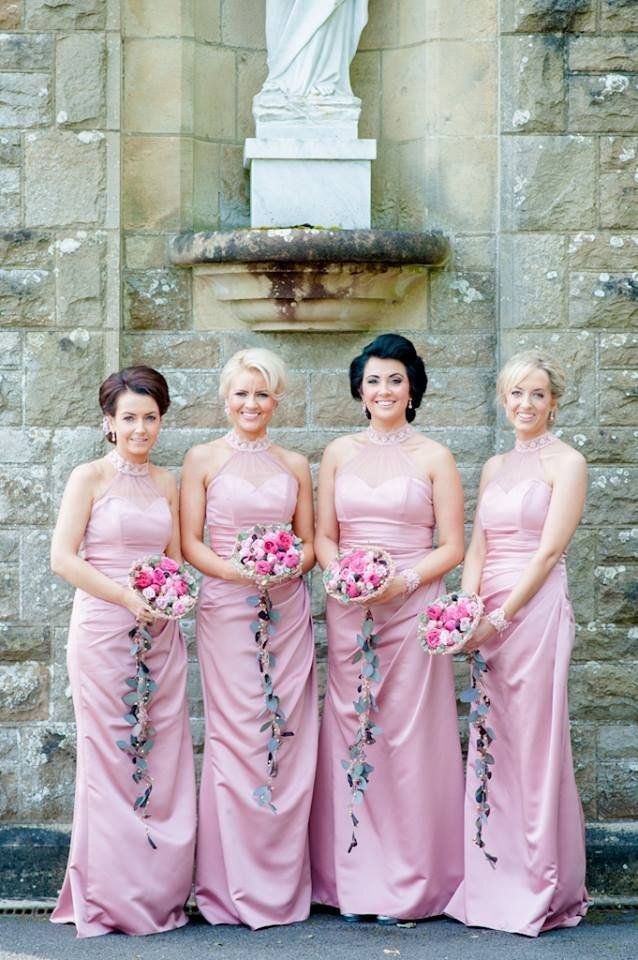 Such glam bridesmaids, love the colour. Dresses from Luna Collection ...