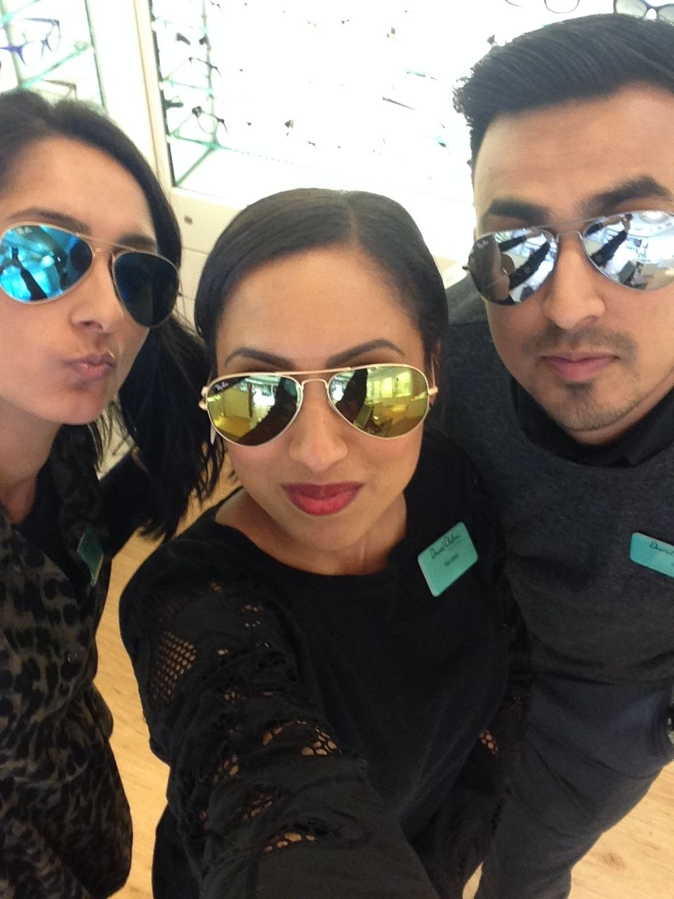 a0f78942ac Kensington team wearing Ray-Ban Mirrored lenses! Brand Campaign