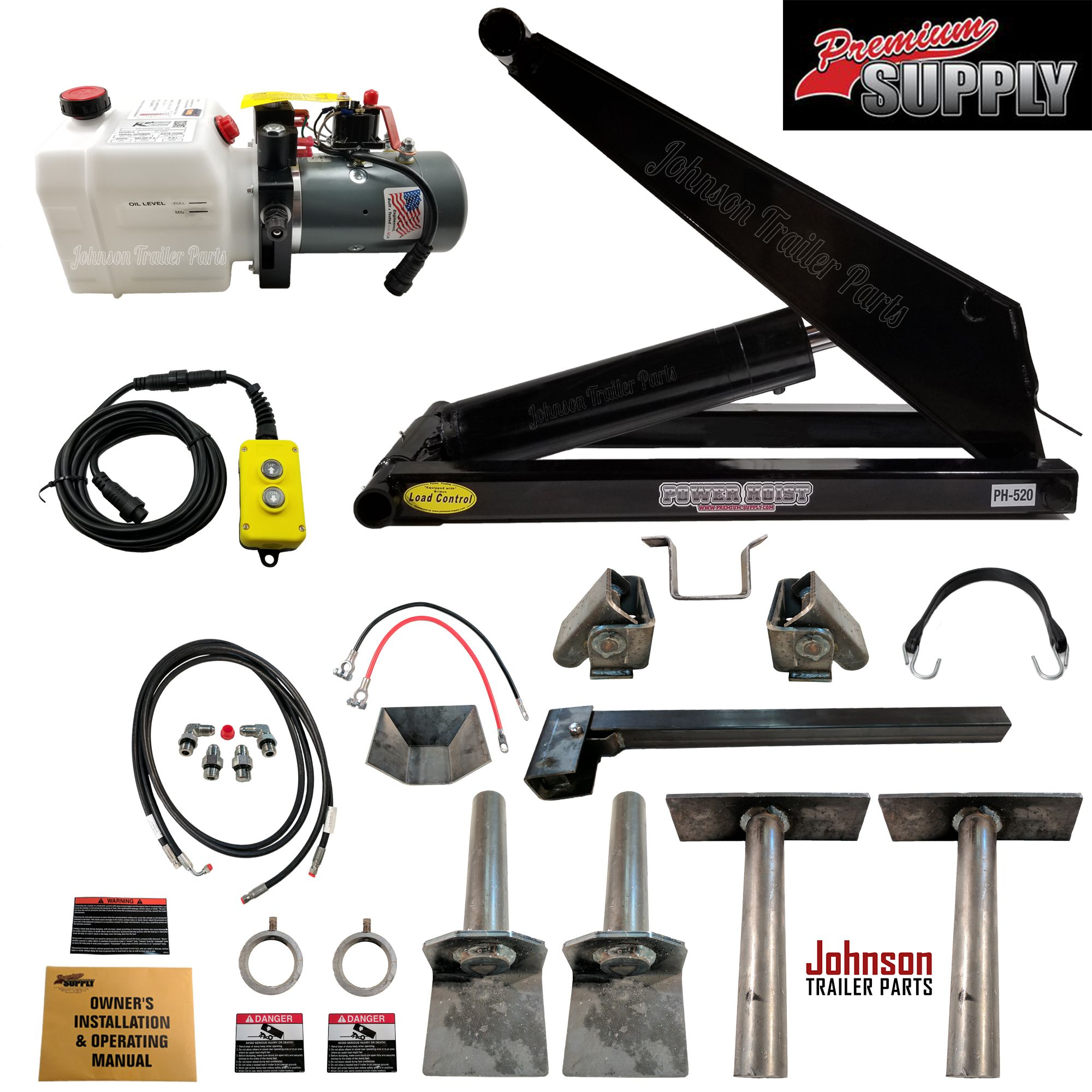 10 Ton Hydraulic Scissor Hoist Kit Ph520 Fits 10 16 Dump Beds Dump Trailers Dump Truck Bedding Trailer Axles
