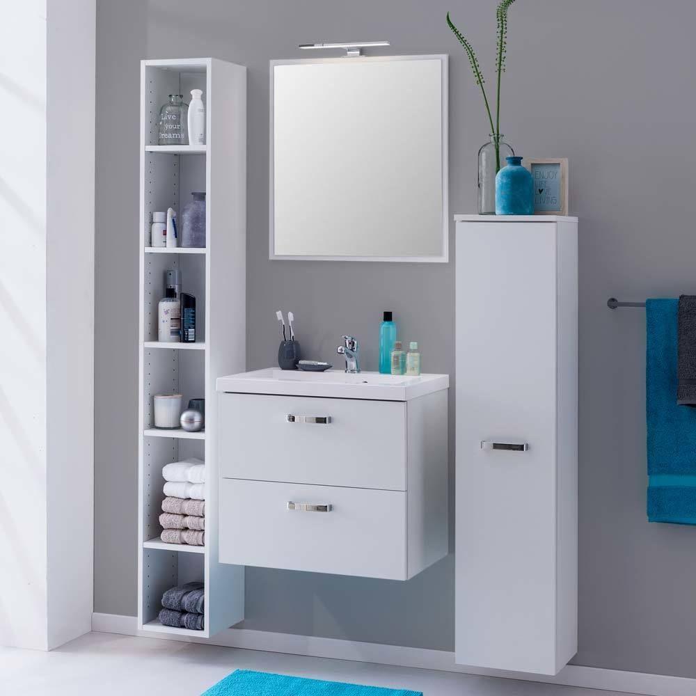 Badezimmer Komplettset mit Regal Weiß (4-teilig) Jetzt bestellen ...