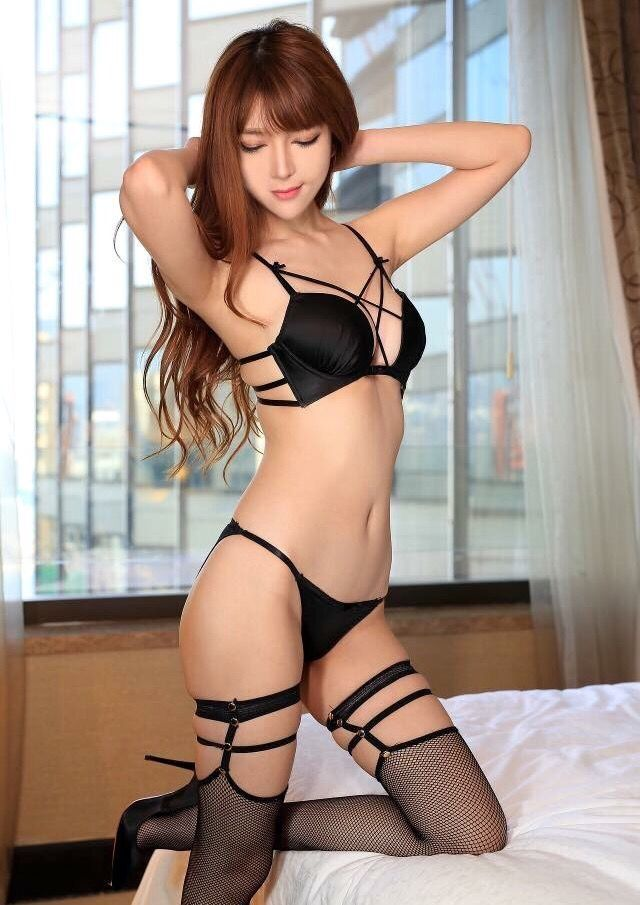 Sexy asian girl in lingerie
