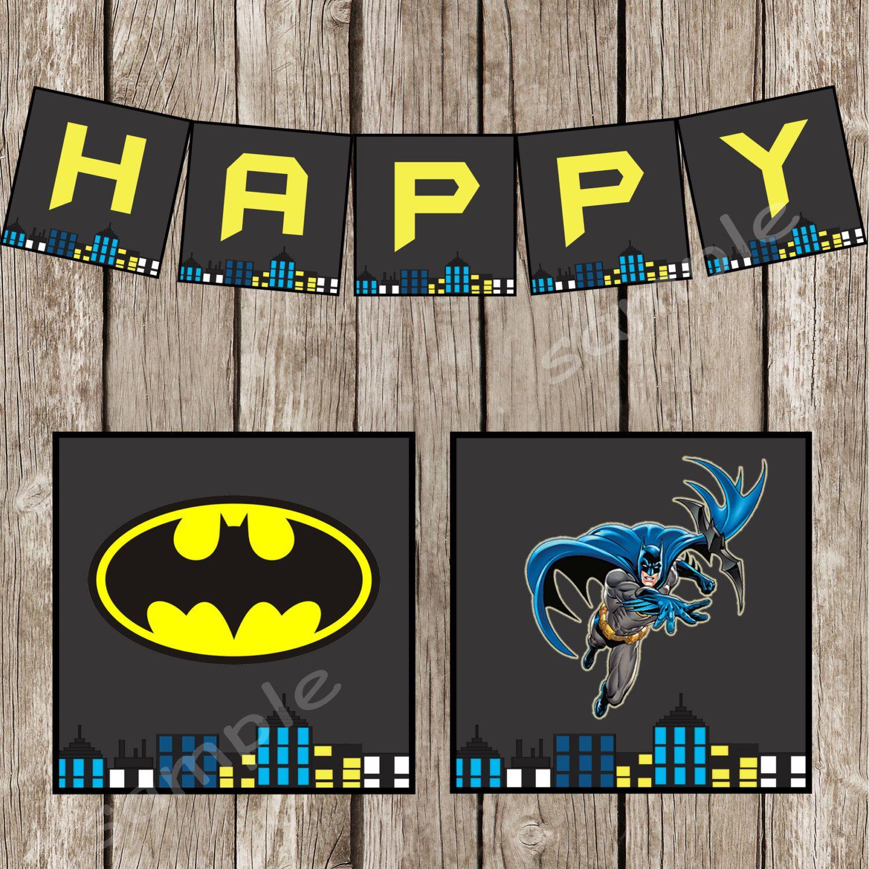 Retro Batman Happy Birthday Banner Batman By