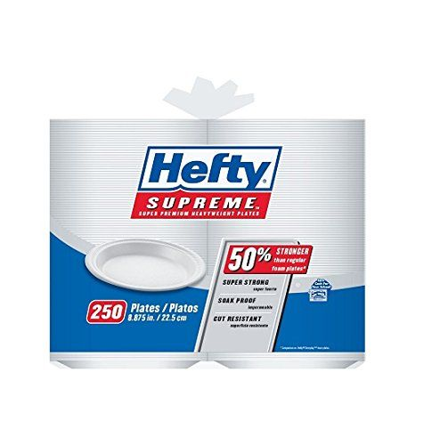 Hefty Foam Plates 8 Hefty Supreme Plates are super strong and soak-proof this heavyweight plates are two times stronger than regular plates.  sc 1 st  Pinterest & Hefty Supreme Plates. Hefty Supreme Plates (250 ct.). #hefty ...