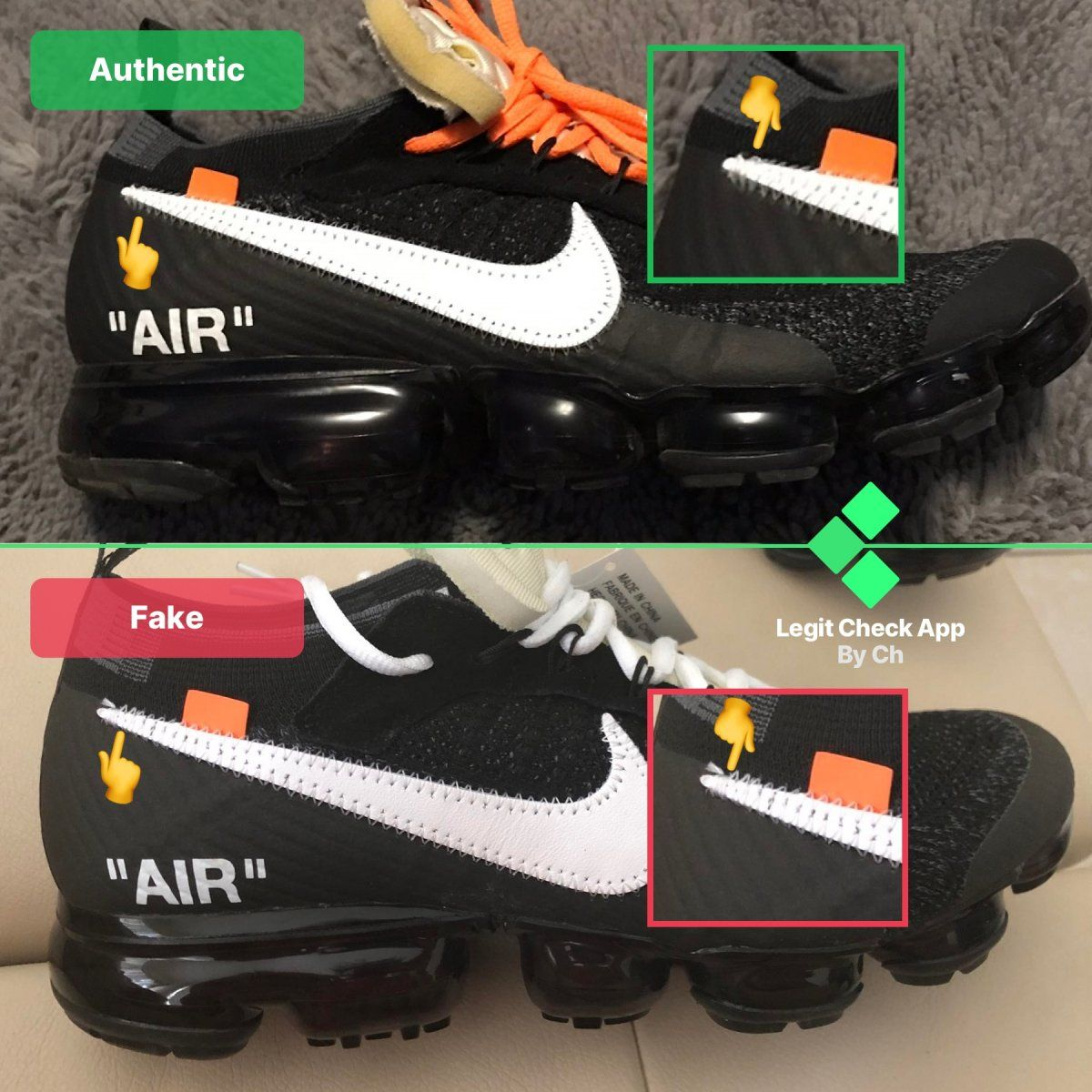 Zanahoria Calibre Tacón  Step 2: Verify the Nike Swoosh logo on your sneakers in 2020 | Nike swoosh  logo, White nikes, Off white shoes