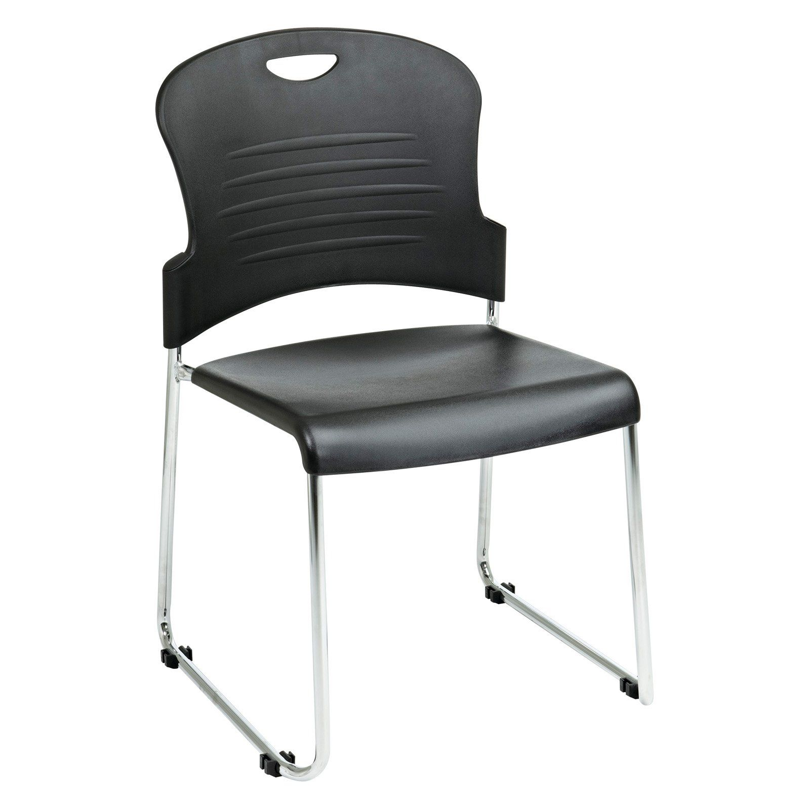 Work Smart Stacking Office Guest Chair With Sled Base Set Of 2