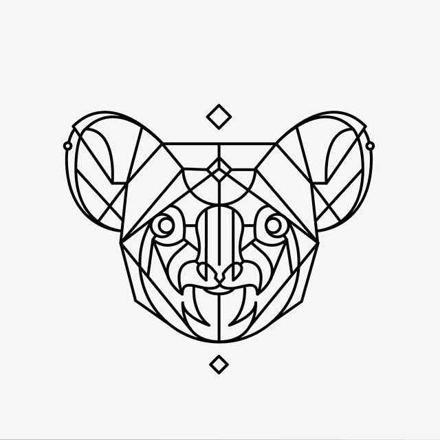 tatouage koala origami