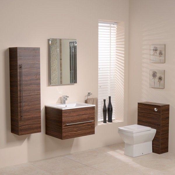 Aspen 600 Walnut Bathroom Furniture Pack