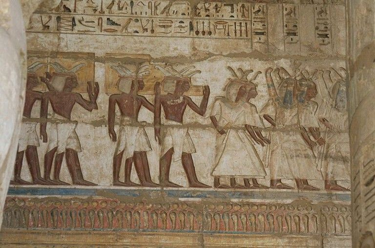 Sea People inscriptions in The Mortuary Temple of Ramesses III at Medinet Habu