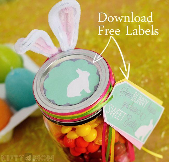 Download free labels for mason jar easter gift easter printables download free labels for mason jar easter gift negle Images