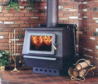 Classic King Woodburning Stove By Blaze King Shown With Optional