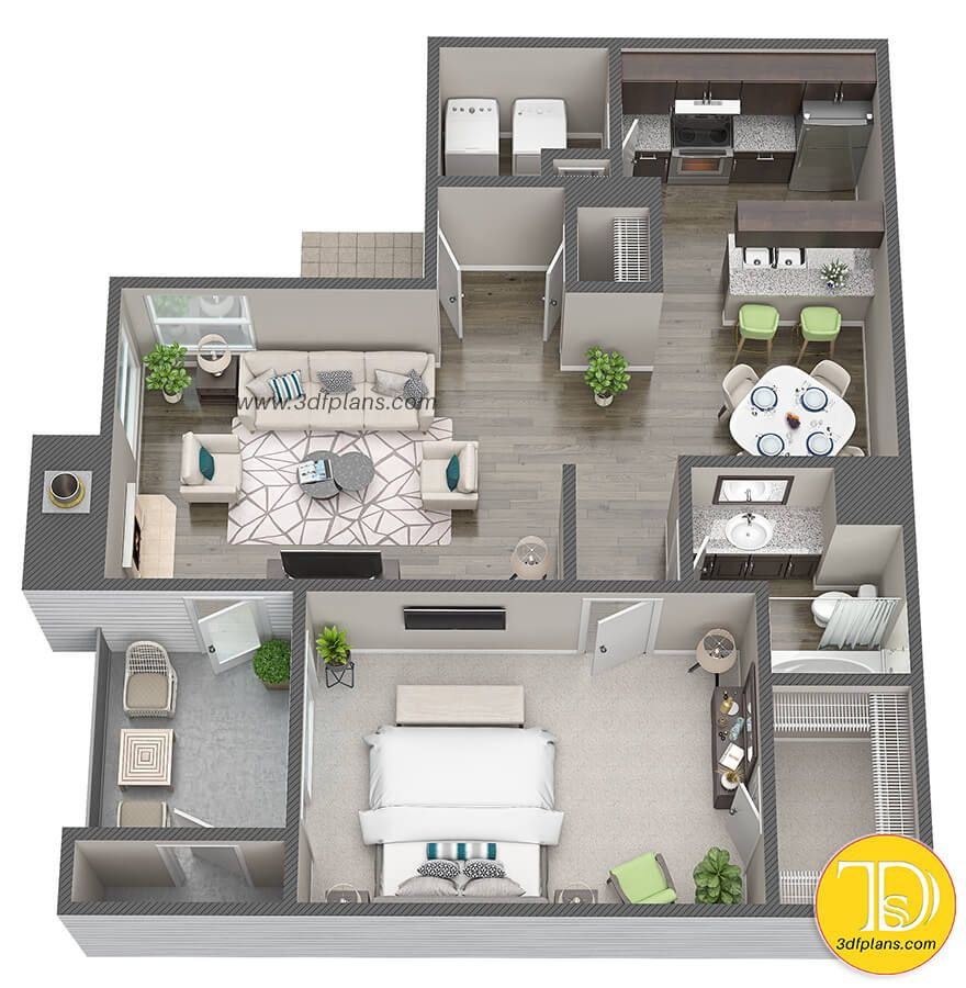 9D Floor Plans for Apartment Community in Houston, TX  Small