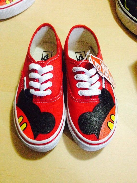 c5b53da05af28 Mickey Mouse Toddler Custom VANS Shoes | Products | Mickey mouse ...