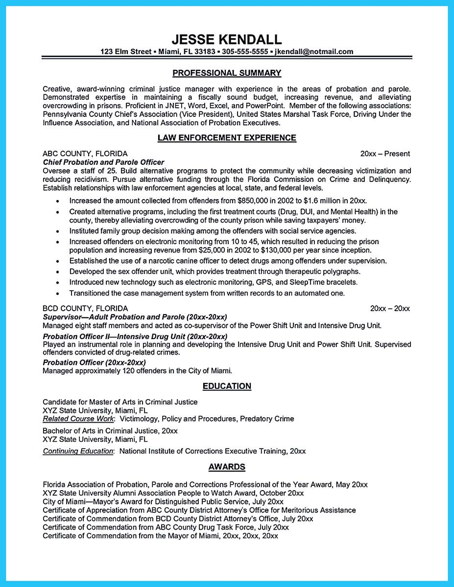 Resume For Correctional Officer Nice Perfect Correctional Officer Resume To Get Noticed  Resume .