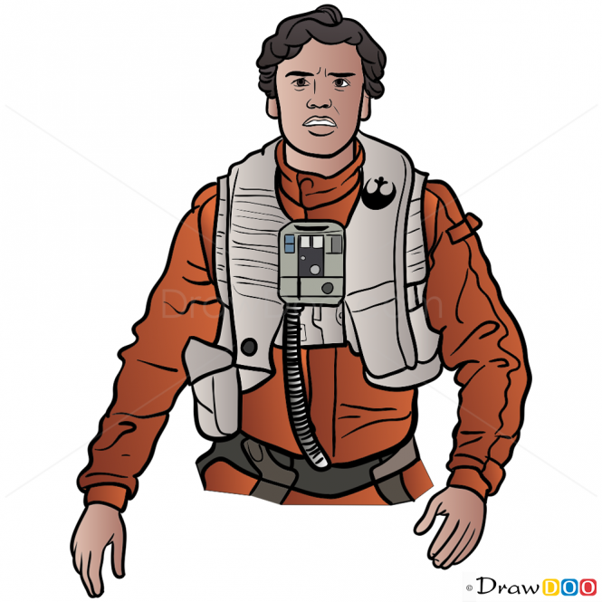 How To Draw Poe Dameron Star Wars How To Draw Drawing Ideas Draw Something Drawing Tutorials Portal Poe Dameron Star Wars Poe