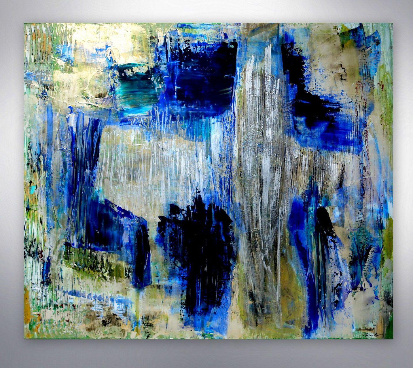 modernes gemalde silber blau gespachtelt xxl kaufen hochwertige bilder originale unikate art gallery kunstgalerie online shop landsch abstrakte malerei abstrakt acrylbilder gemälde kunst acryl auf leinwand