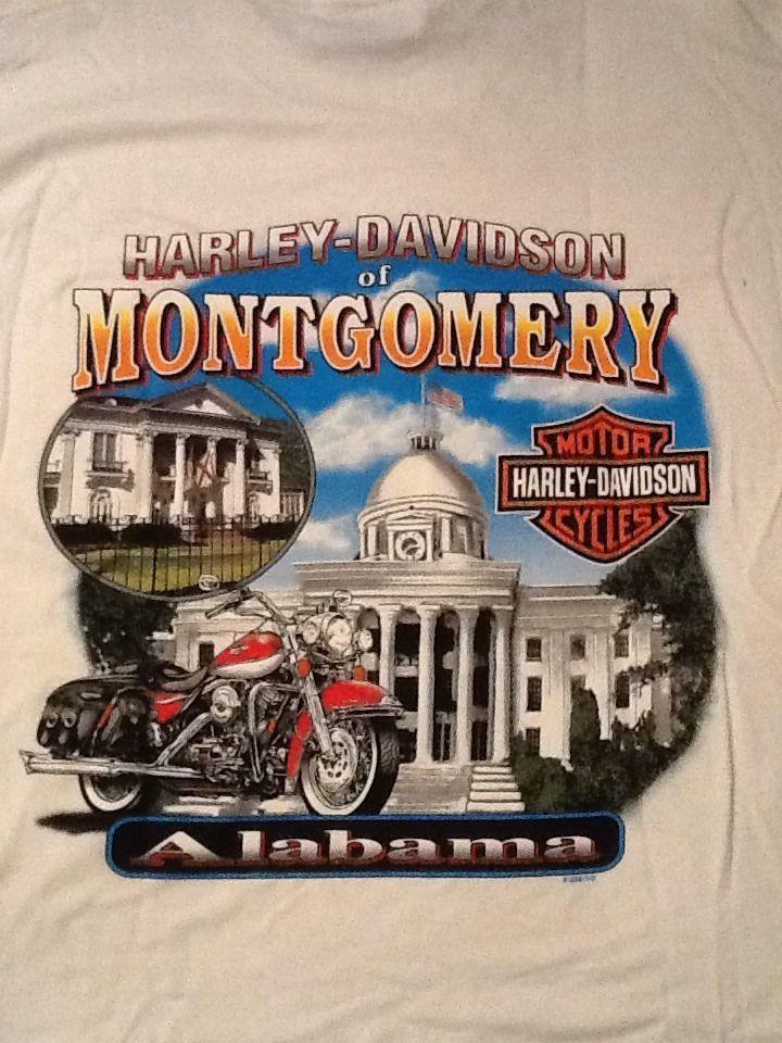 harley-davidson motorcycles of montgomery, alabama white t-shirt l