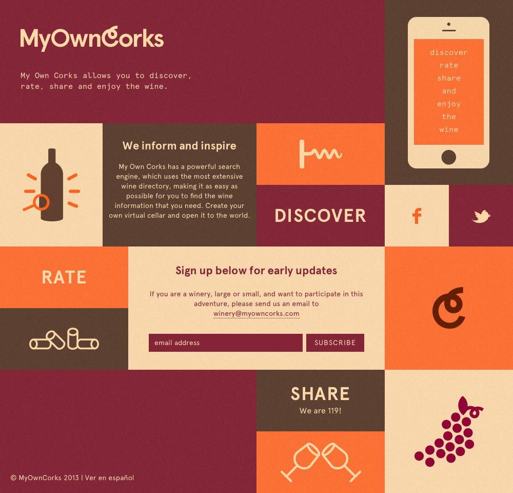 My Own Corks Web Design Web Design Inspiration Web Design Trends