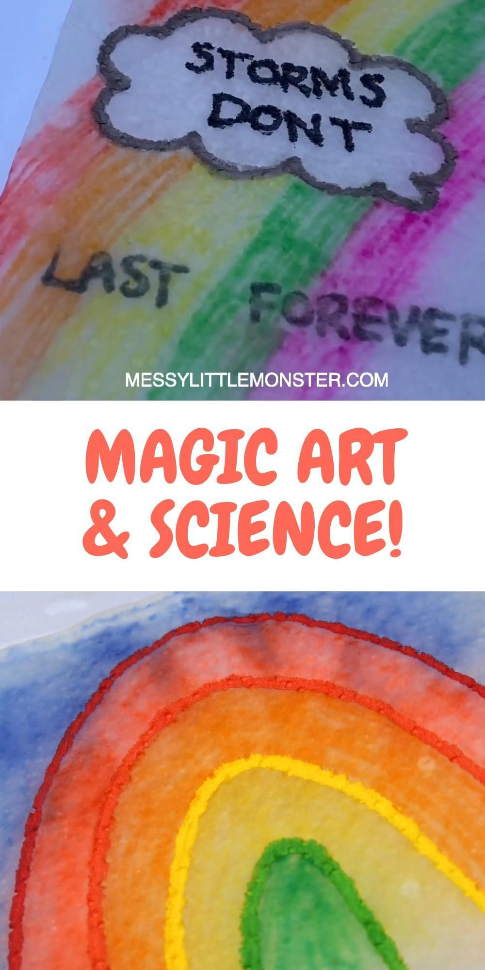 A fun science experiment and art activity for kids rolled into one. Magic paper towel art is a brilliant indoor activity for kids (or outdoor activity if you like) that kids of all ages will want to try again and again! | art education elementary fun activities #scienceexperiment #kidsart #kidsactivities #kidsactivity #kidscraft #scienceforkids #funscienceexperiments #papertowelart #indooractivities #indooractivitiesforkids