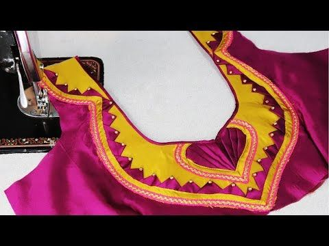 ada50e14039ca6 New model blouse design cutting and sttiching at home ezee fashion youtube  also rh in pinterest